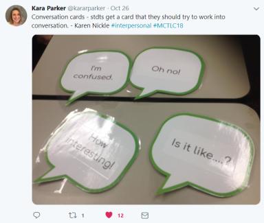 Conversation card tweet